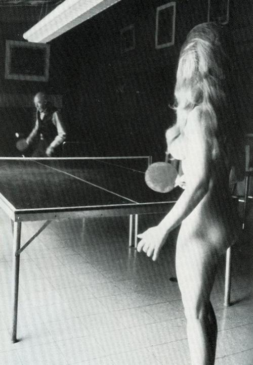 henry miller playing ping pong